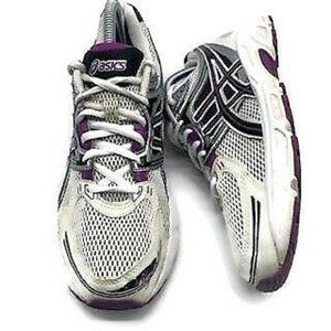 ASICS Gel Running Shoes Sneakers Purple White Silv